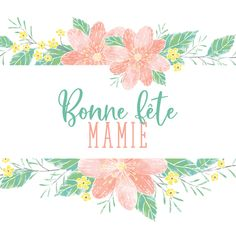 ♥️ ♥️     B O N N E     F Ê T E     M A M I E     ♥️ ♥️             #GrandMere #Mamie #BonneFeteMamy #FetedesGrandsMeres #illustration Jolis jours Place, Illustration, Tapestry, Home Decor, Custom Map, Father's Day, Pretty Cards, Hanging Tapestry, Tapestries