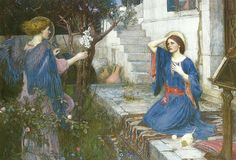 "John William Waterhouse(1849-1917), ""The Annunciation"", 1914 | Flickr - Photo Sharing!"