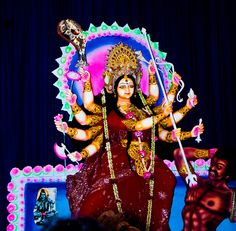 Goddess Durga at Dhakeshwari Temple