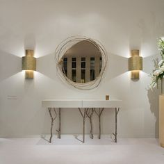 Shop our range of console tables at Regency Distribution. Choose from oak, glass, mirror or gold console table, perfect for your hall or living room. Entrance Table Decor, Entryway Decor, Entryway Tables, Bedroom Decor, Table Decorations, Pottery Barn Hacks, Living Room Panelling, Console, Home Interior Design