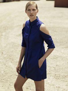 Dion Lee - Blue shirt dress