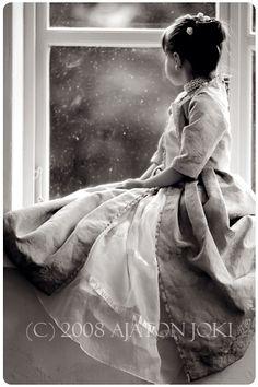 little girl and window