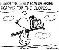 snoopy skiing - Google Search