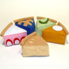 Felt+Monkey+Pattern | Apple Key Lime Pumpkin Pie Slice Felt Play Food Pattern | eBay