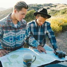 Great trips require great planning. Get your traveling shirt on. Photo by @joelbear with @saxonmorris #getready #2016 #roadtrip #adventure #pendleton #fashion #getoutthere #explorer