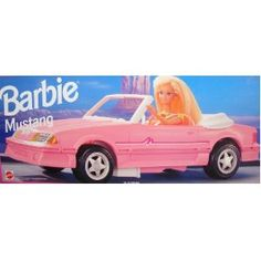 Barbie Pink Mustang 1993. My very first Barbie car. Courtesy of my big brother.<3