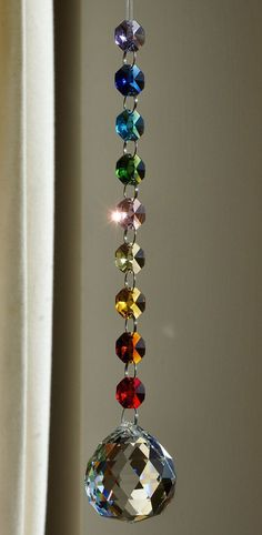40 mm Crystal Sphere Suncatcher Rainbow by CrystalsAndRainbows Feng Shui, Bead Crafts, Diy And Crafts, Kids Crafts, Mobiles, Sun Catchers, Dream Catchers, Crystal Sphere, Wind Chimes