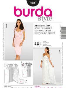 burda style: Damen - Festliche Mode - Abendkleider - Abendkleid - Brautkleid - Korsage