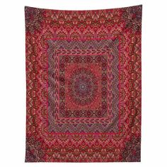 DENY Designs Aimee St Hill Farah Squared Red Wall Tapestry - 59912-TAPMED
