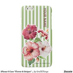 "iPhone 6 Case ""Flower & Stripes"" Var01 Glossy iPhone 6 Case"
