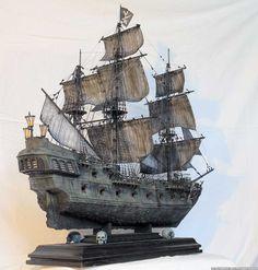 Zvezda 6513 Black Pearl Captain Jack Sparrow Ship Pirates of The Caribbean tobias paul Jack Sparrow Ship, Captain Jack Sparrow, Model Sailing Ships, Old Sailing Ships, Pirate Ship Drawing, Black Pearl Ship, Scale Model Ships, Pirate Boats, Model Ship Building