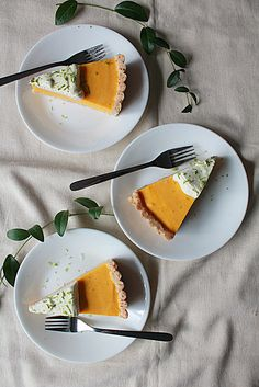 Mango Lime Cream Tart with Coconut Crust - Oh Sweet Day!