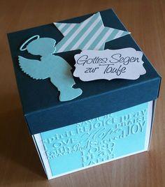 Explosionsbox zur Taufe mit Stampin up und Kartenkunst