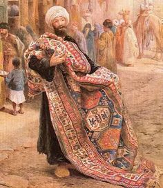 Carpet seller,Charles Robertson Chajli