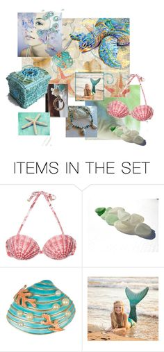 """""""The Mermother's Collection"""" by knotchacha ❤ liked on Polyvore featuring art"""