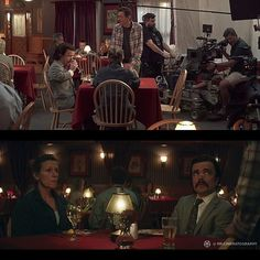 "[ON SET] With ""Three Billboards Outside Ebbing, Missouri"" Cinematography by Ben Davis . F Movies, Good Movies, Light Cinema, Cinematic Lighting, Lighting Techniques, Romance Novels, Titanic, Camera Lens, On Set"