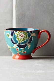 Bellina Blooms Mug.   Love the color pallet on this mug. #LGLimitlessDesign #Contest