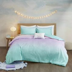 Shop Mi Zone Sparkle Aqua Metallic Glitter Printed Reversible Comforter Set - On Sale - Overstock - 28864744 - Full - Queen