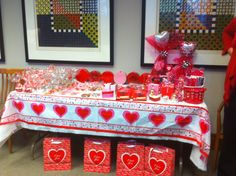 Gift basket from dollar store items Valentines week fundraiser for JA