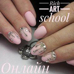 Photo Swarovski Nails, Nail Jewelry, Pink Nails, Art School, Manicure, Nail Bar, Nails, Pink Nail, Polish