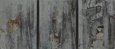舊時代倒敘-點描詩Ⅰ 邱錦屏 複合媒材 24x33x4.5cm x3p
