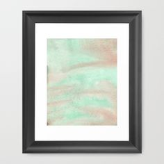 "Watercolor Dream Version 1 Framed Art Print The Scoop frame is made from solid wood with a contemporary, scooped profile measuring 1.06"" wide x 1.06"" deep. A gesso coating gives the moulding rich color and a smooth finish.  #watercolor paint, #subtle, #light, #digital, #holidays, #new years, #gif"