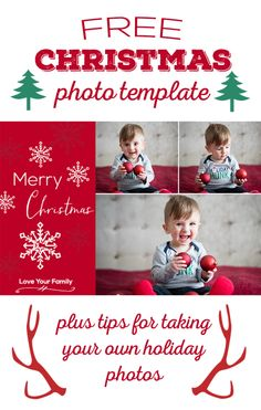 50 free holiday photo card templates editing pinterest free