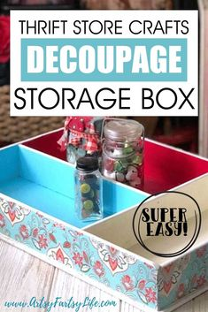 One of my favorite things to do is vintage crafts! Taking a ratty old storage box and making it a beautiful, functional way to increase storage in my craft room or office is so darn satisfying. This DIY project is super fast and easy to do! Here are my best tips and ideas for a successful project!
