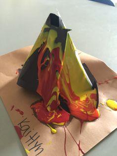 Volcano 3D art
