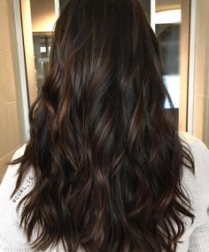 Black Coffee Hair With Ombre Highlights - 10 Cool Ideas of Coffee Brown Hair Color - The Trending Hairstyle Castaño Chocolate, Chocolate Brunette Hair, Chocolate Brown Hair, Coffee Brown Hair, Honey Brown Hair, Brown To Blonde Ombre, Brown Hair Balayage, Hair Lights, Redken Chromatics