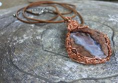 Geode Slice Necklace, Quartz Pendant, Red Vein Agate Pendant, Healing Jewelry, Geode Jewelry, Raw Stone Necklace, Crystal Necklace by CrystalDestinies on Etsy