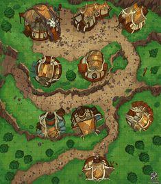 village mountain fantasy map patreon medieval forest battle