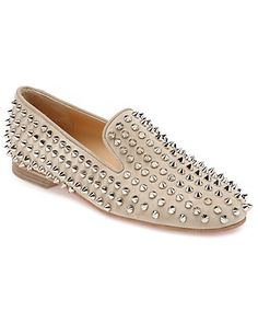 "Christian Louboutin ""Rolling Spikes"" Suede Loafer $1295"