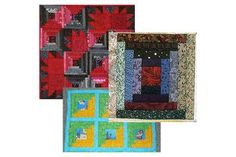There Are So Many Ways to Work with the Versatile Log Cabin Design: Three Log Cabin Quilt Block Layouts
