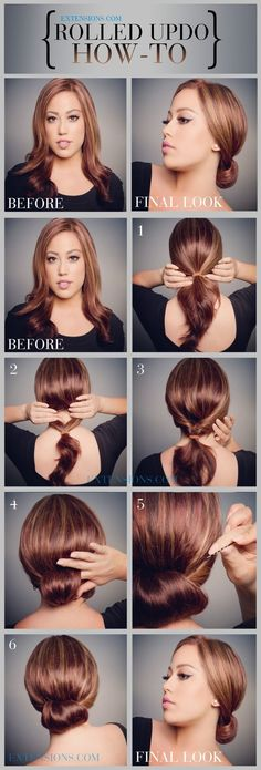 12 Trendy Low Bun Updo Hairstyles Tutorials