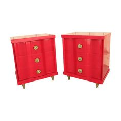 1960s Side Tables With Brass Legs - A Pair - $2,400 Est. Retail - $1,600 on Chairish.com