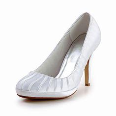 Elegant Satin Stiletto Heel Ruched Pumps Wedding Shoes(More Colors) – USD $ 69.99