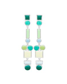 JOIDART.COM #joidart #jewellery #creativejewelry #colorfulljewelry #enameledjewelry #turquoise #mint #blue #bercelona #jewelrymakers #earrings #jewelryonlineshop