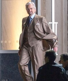Michael Douglas As Scientist Hank Pym For Marvel's Ant-Man In Atlanta, GA