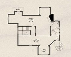 The Guest House floor plan, third floor