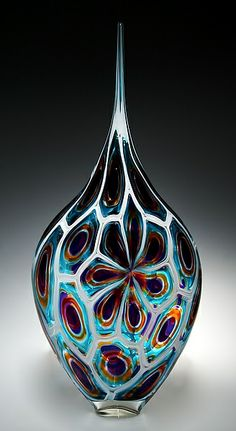 """Murrine Resistenza""  Art Glass Sculpture  Created by David Patchen"