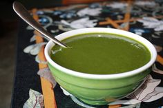 Green Goddess Soup  Makes 3 servings Ingredients2 zucchini 1 bunch swiss chard stems and leaves, coarsely chopped 1 bunch cilantro, stem ends removed, coarsely chopped 1 quart chicken or veggie stock ½ lemon ¼ tsp cayenne ½ tsp salt