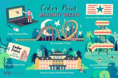 Discover how to find discounts on tickets, like AAA and resort packages, when planning a visit to the Cedar Point amusement park in Sandusky, Ohio. Cedar Point Tickets, Castaway Bay, Soak City, Downtown Cleveland, Kings Island, The Buckeye State, Military Discounts, White Sand Beach