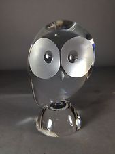 Antique Steuben Glass Owl designed by Donald Pollard 50's