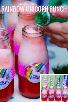 What do you serve at a rainbow unicorn birthday party? Rainbow unicorn punch, of course! @nikimeiners shares her fun party punch recipe on our blog.