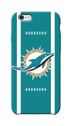 Fully Custom Made iPhone 6 case for NFL Miami Dolphins fans