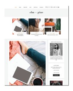 Elm + Pine is a minimal, two-column WordPress blog template with light grey accents and classic font accents. To purchase when I make $