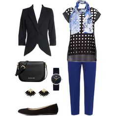 Black+Blue by megan-martin-i on Polyvore featuring Betty Barclay, Alexander McQueen, Charlotte Russe, MICHAEL Michael Kors, Braun, River Island and Roberto Cavalli
