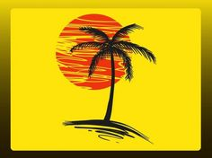 2 colors- awesome use of space- Free Vector Graphics, Vector Art, Palm Tree Vector, Nature Vector, Tree Illustration, Borders And Frames, Landscape Drawings, Nature Images, Bookbinding