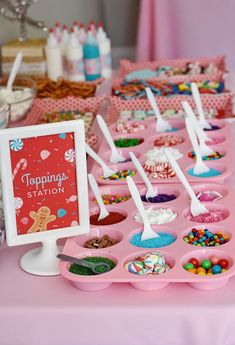 A Gingerbread House Party wouldn't be complete without a Toppings Station!
